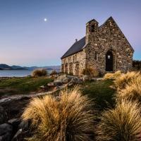 Dusk at Church of the Good Shepherd
