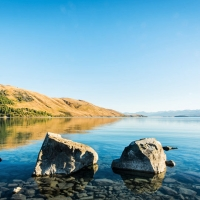 Clear morning, Lake Tekapo