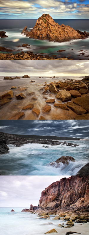 Montage of images taken around Cape Naturaliste 