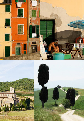 Scenes from the Cinque Terre and the Chianti