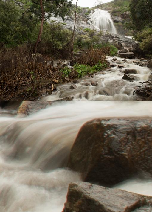 Waterfall shot at f18