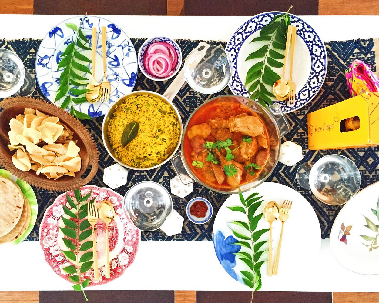 Bombay table spread