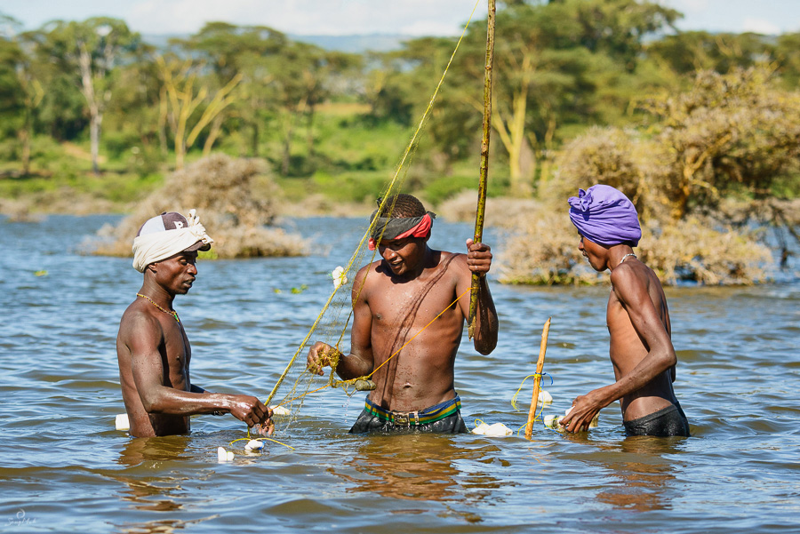Fishermen at Lake Naivasha