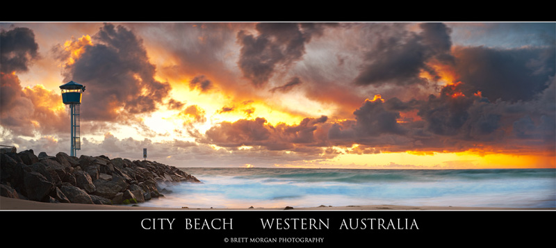 City Beach Sunset by Brett Morgan