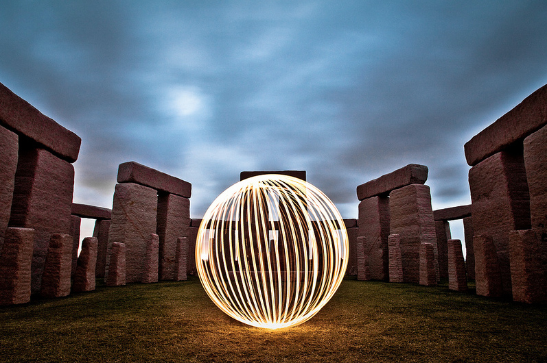 Lightsphere at Esperence Stonehenge - by Steve Humpleby
