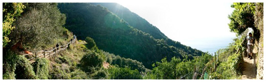 Walking the Sentiero Azzura between Monterosso and Vernazza
