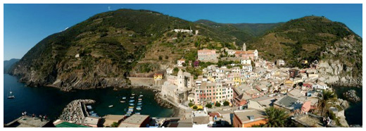 View of Vernazza from the Torre