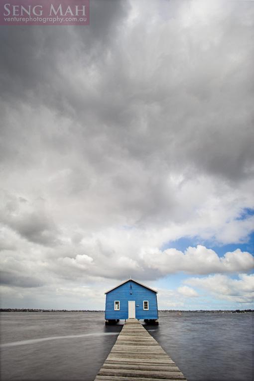 Crawley Boat Shed - shutter blended image