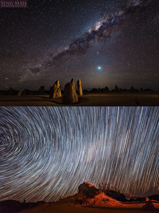 Pinnacles and Milky Way