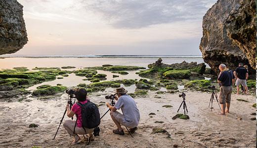Photographing Bali sunset