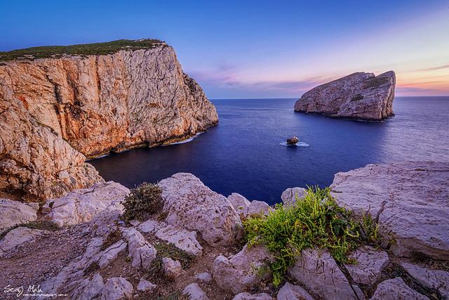 Wide angle landscape at Capo Caccia, Sardinia