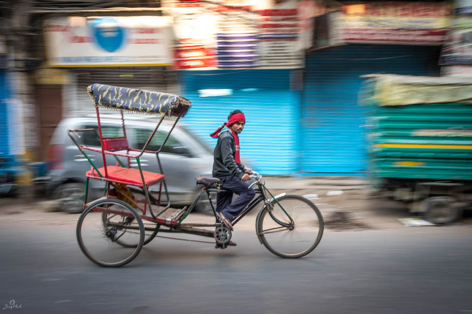 Rickshaw Wallah in Old Delhi
