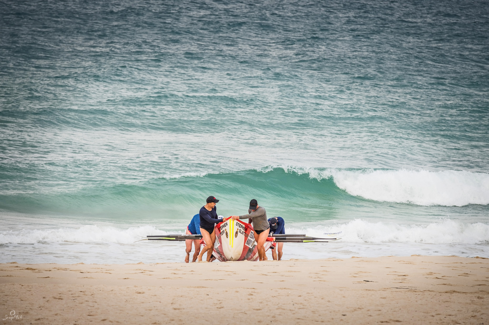 Photo of surf rowers, City Beach