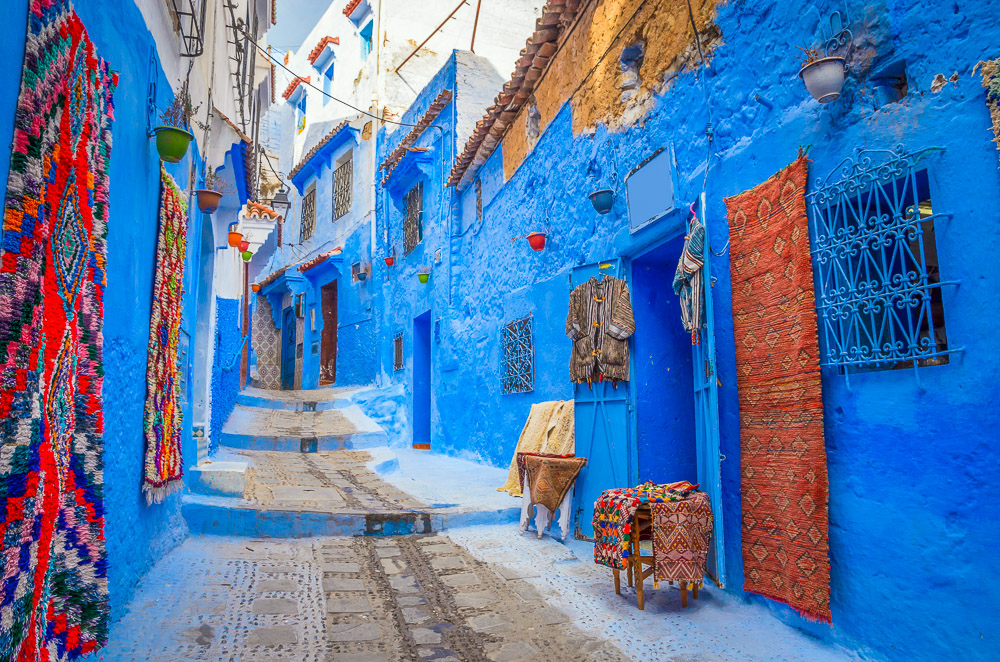 Blue washed streets of Chefchaouen