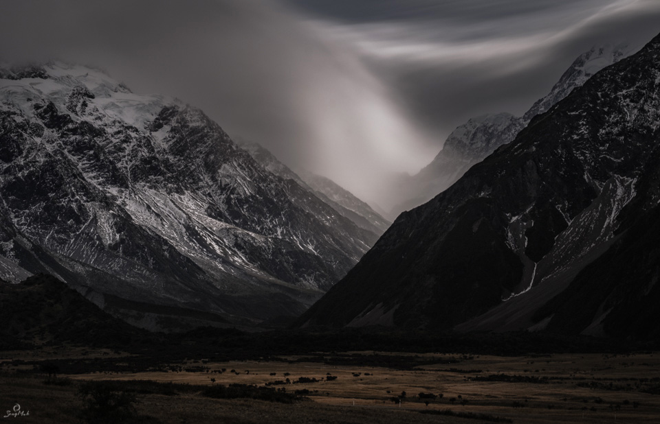 Mountain storm, New Zealand