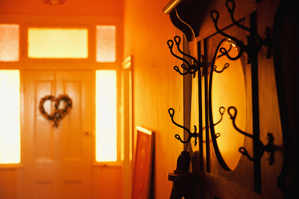 Late afternoon light in a hallway