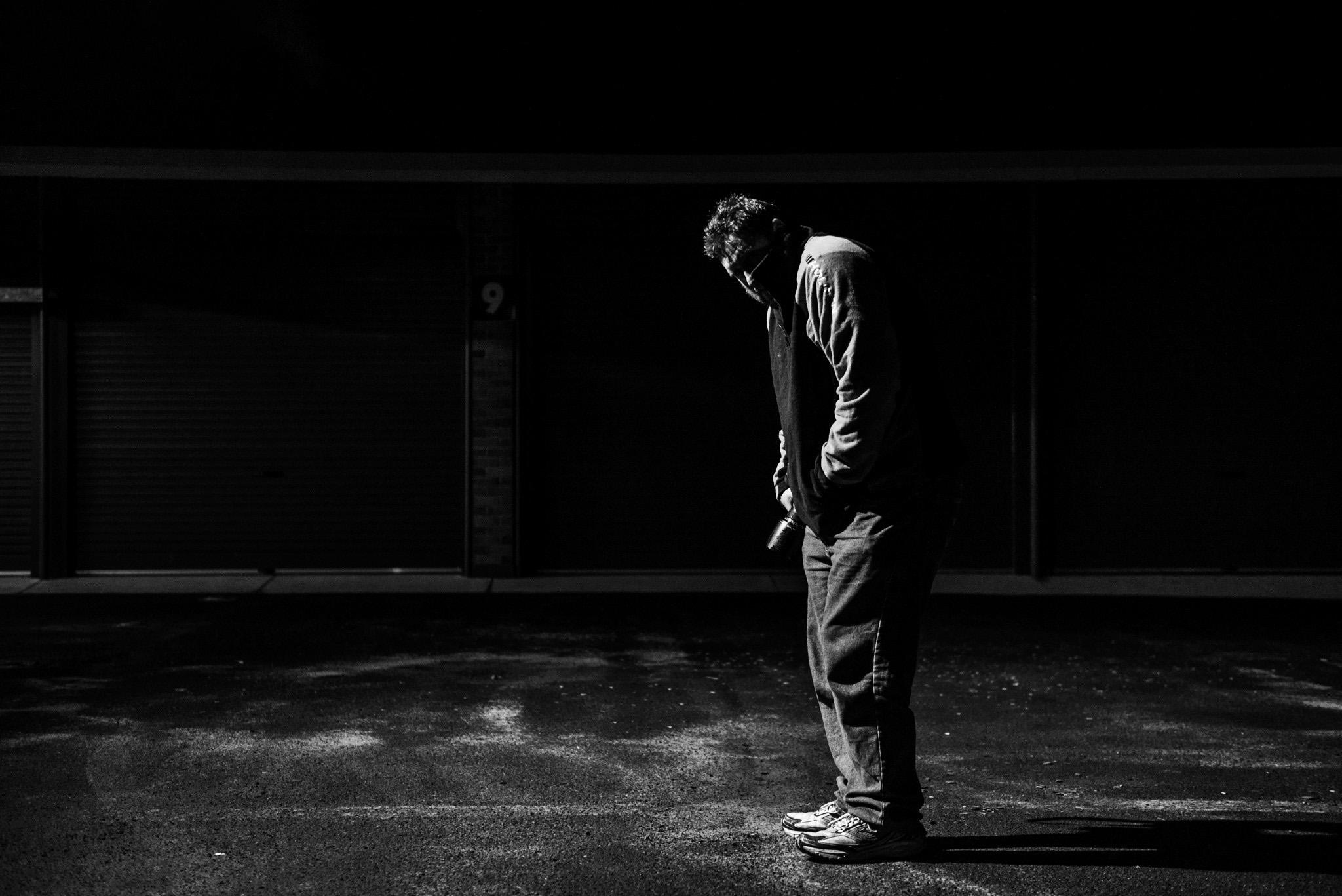 Lone street figure