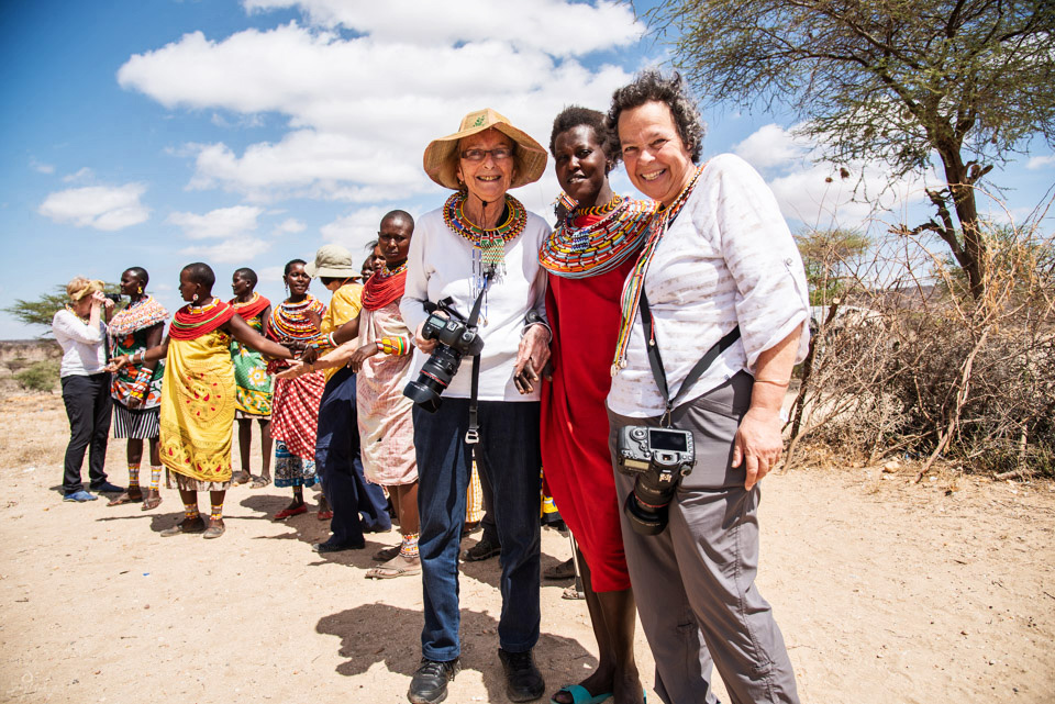 Guests with Masai