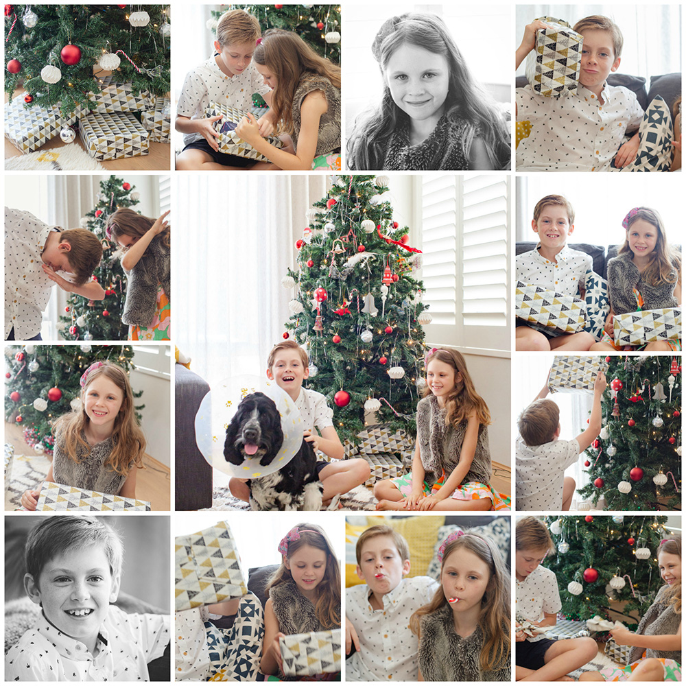 Christmas morning portraits