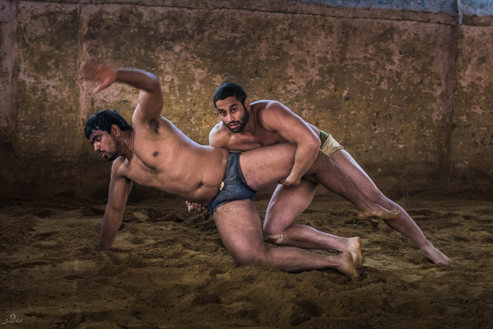 Pehalwani wrestlers in India