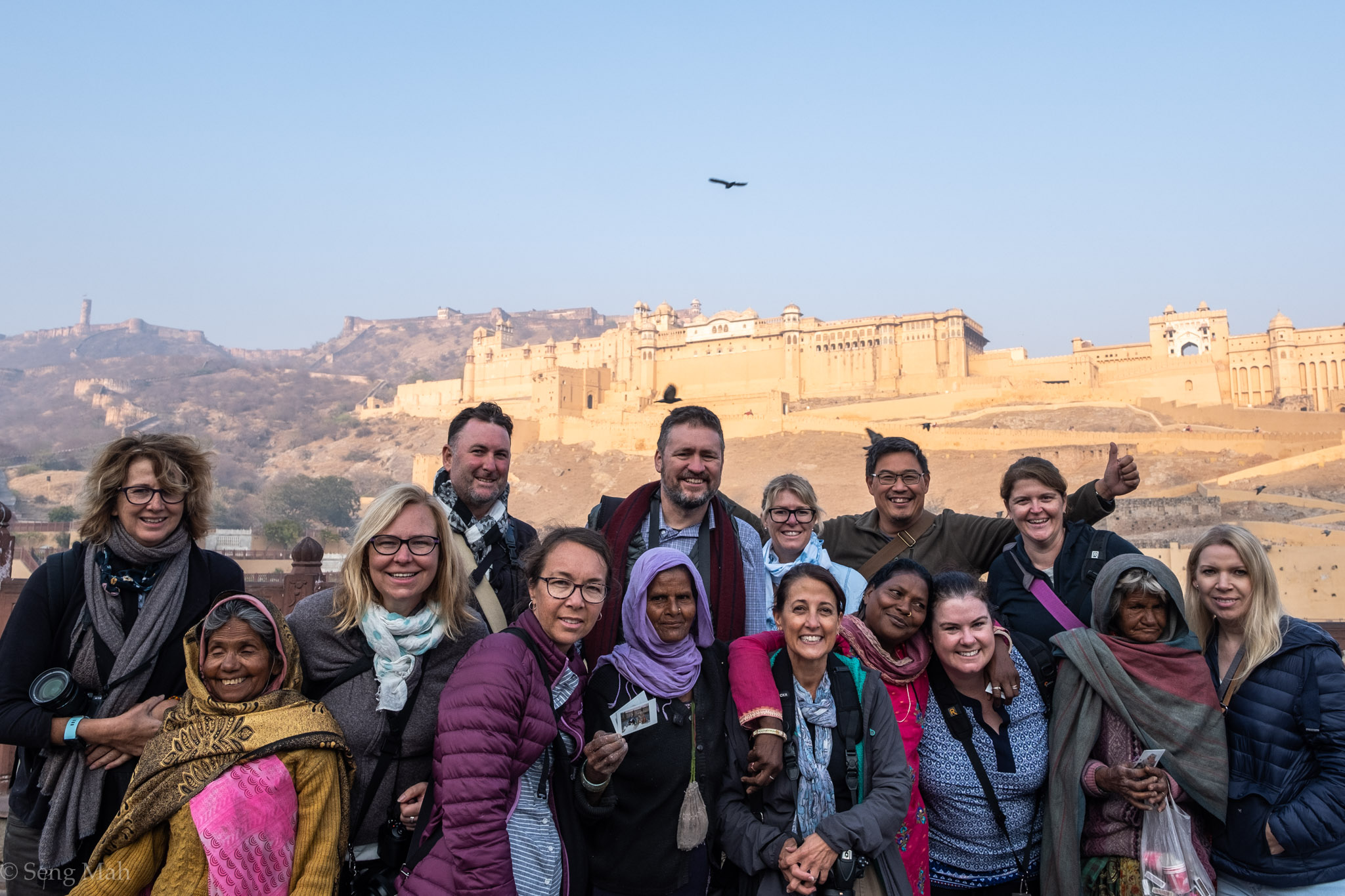 Group photo at Amer Fort
