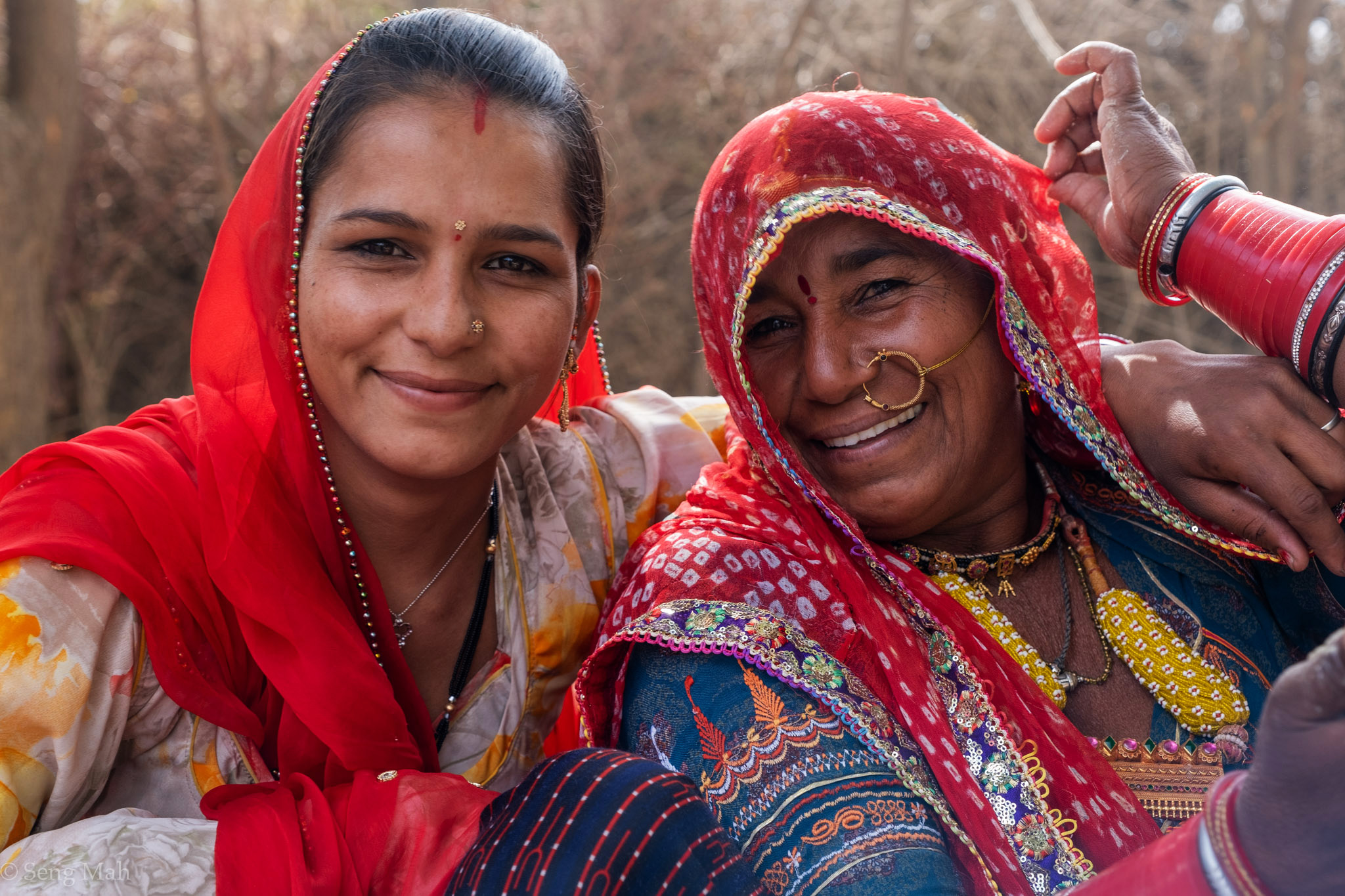 Portrait of a village women and her daughter-in-law