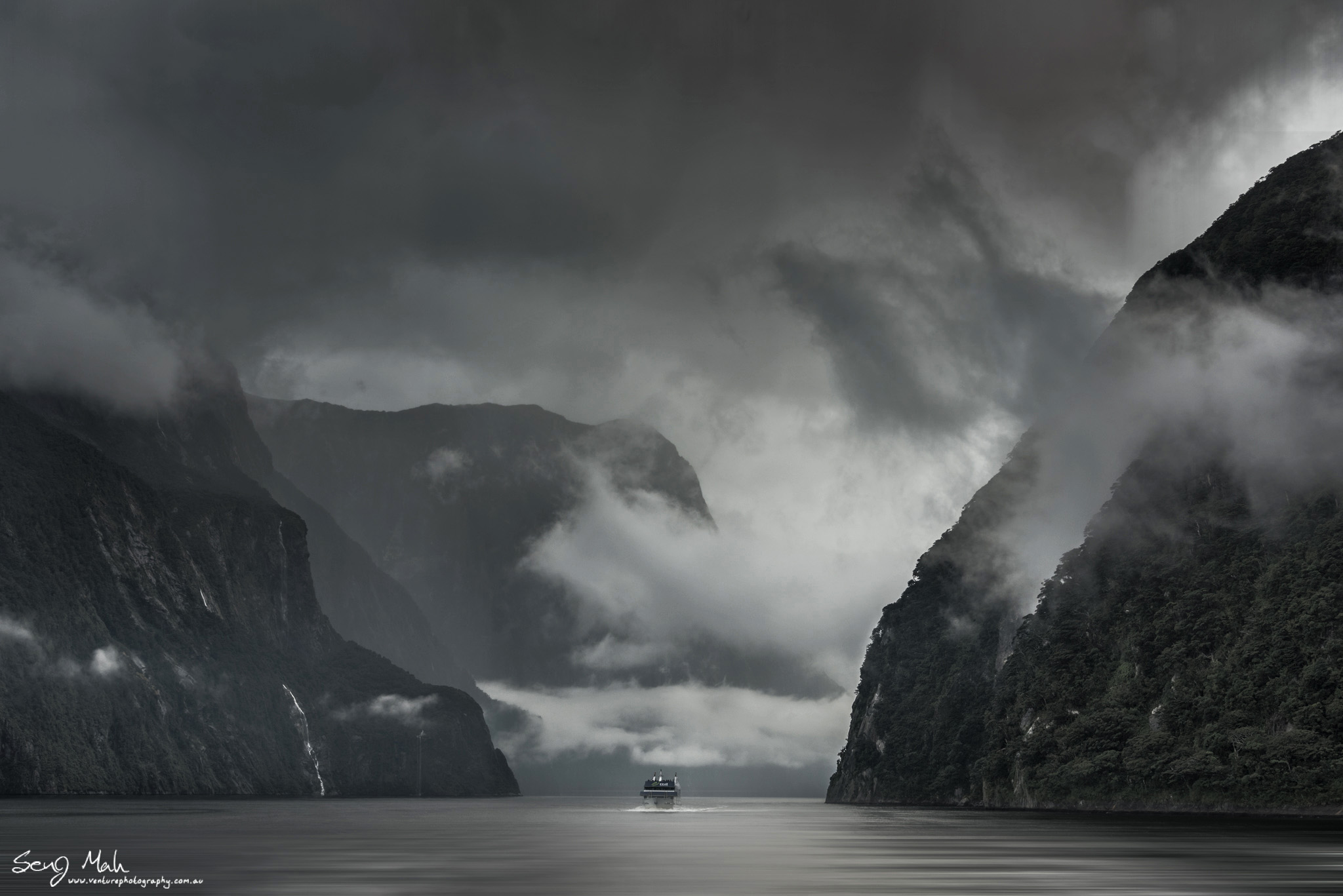 Dramatic Milford Sound Landscape