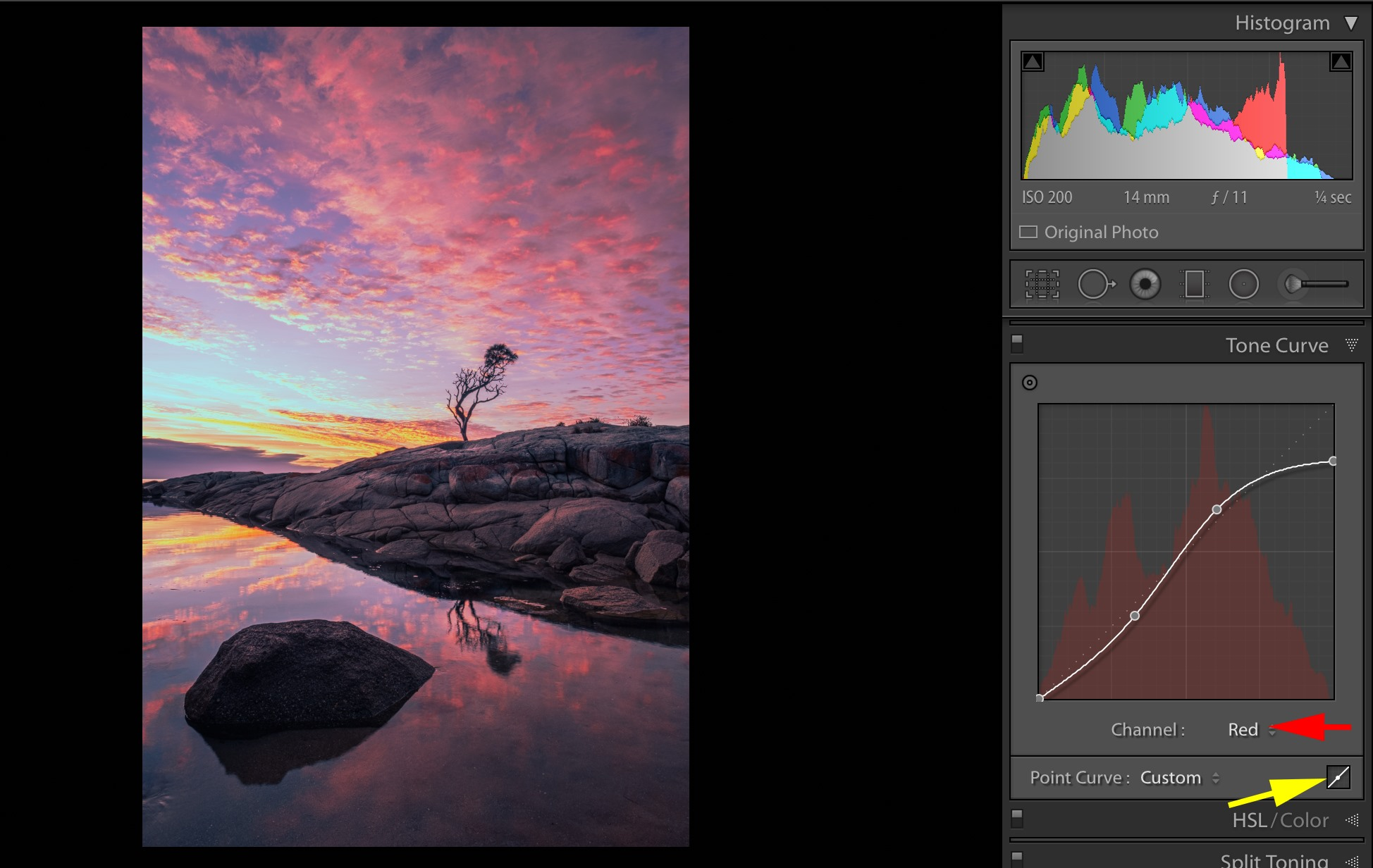Lightroom Tip - using RGB Channels in Tone Curve