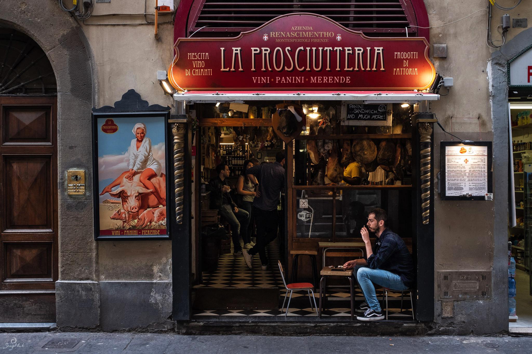 Prosciutteria, Florence