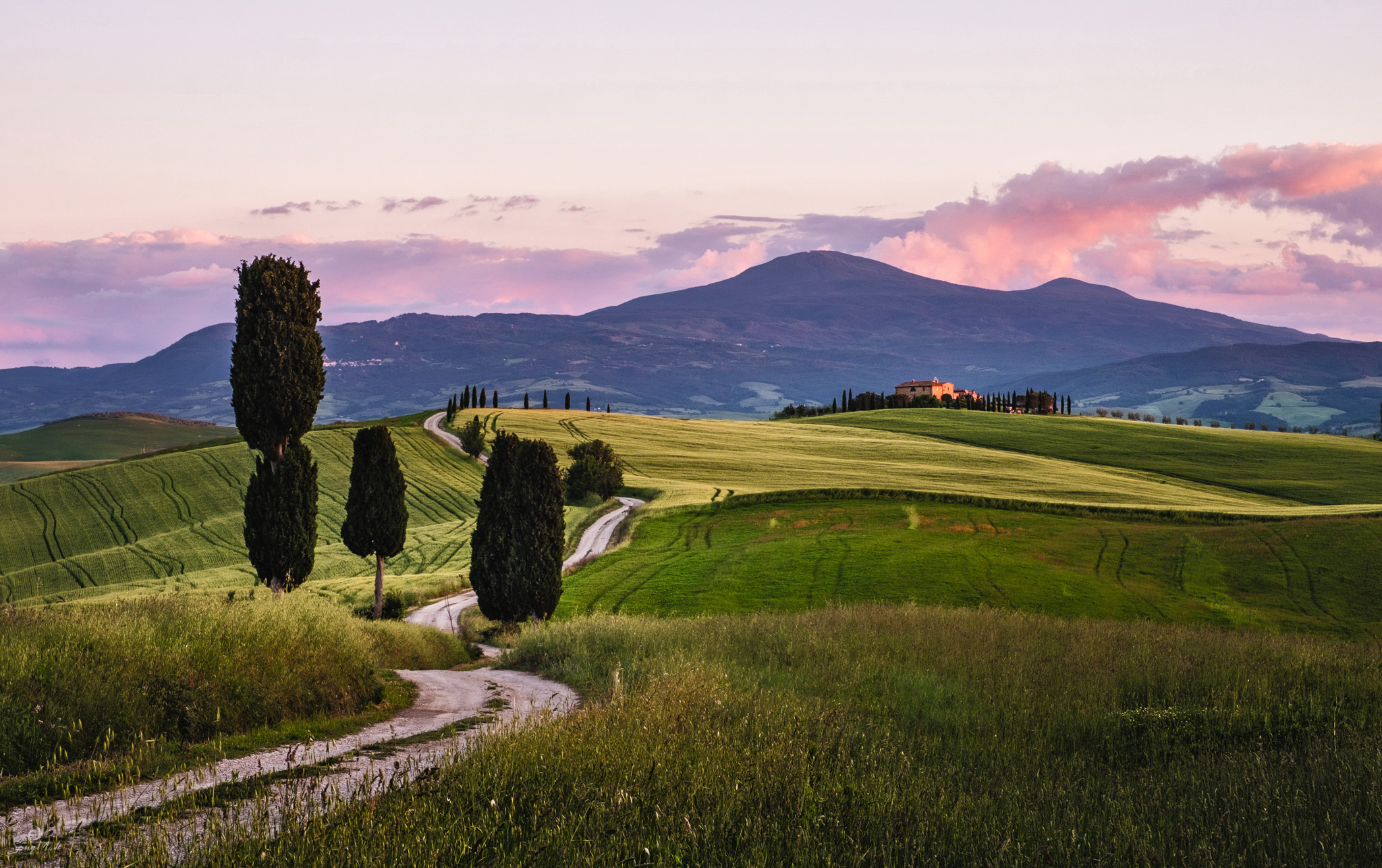 The road from Pienza