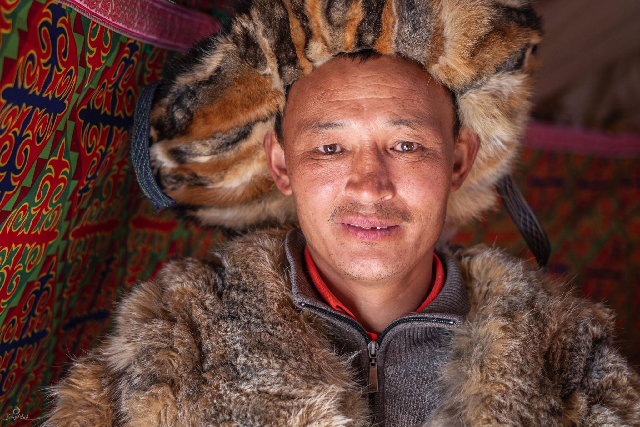 Portrait of a Kazakh man