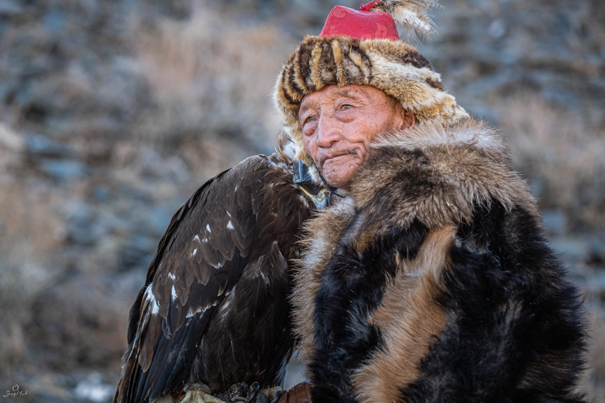 Elderly Kazakh Eagle Hunter