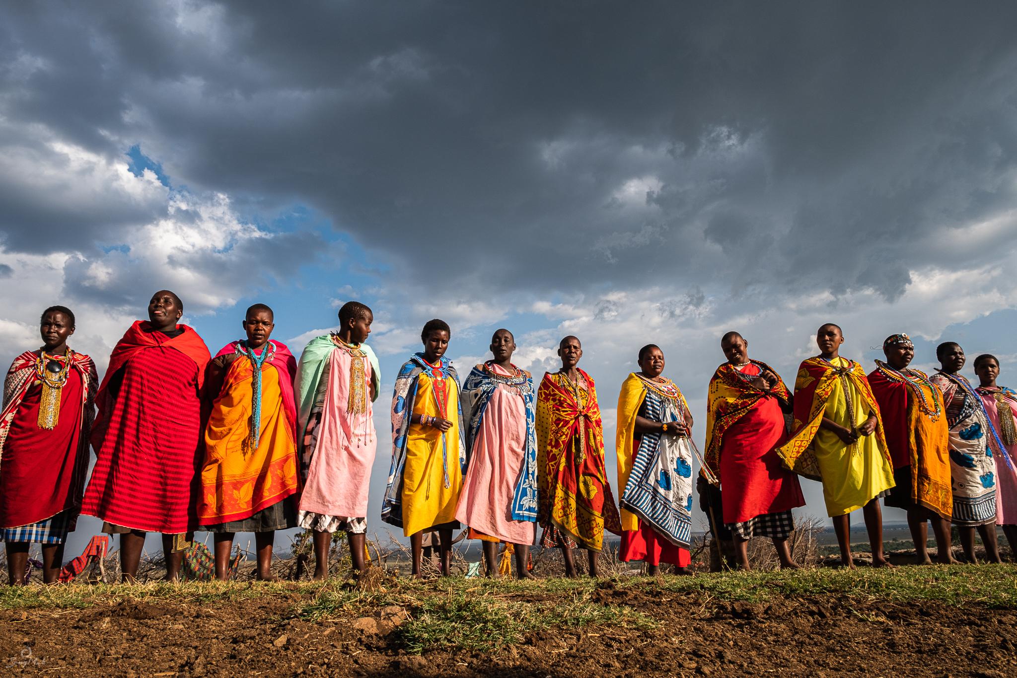 Masai women singing