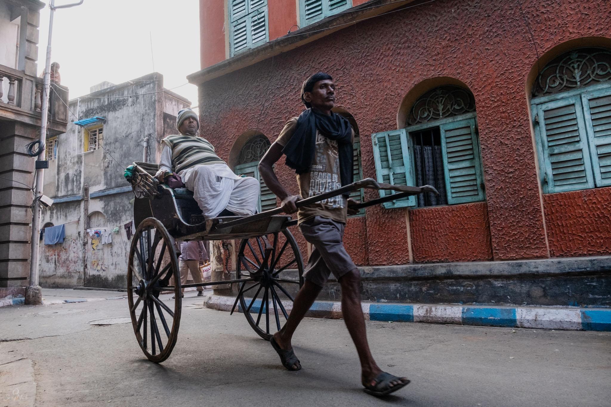 Hand rickshaw wallah