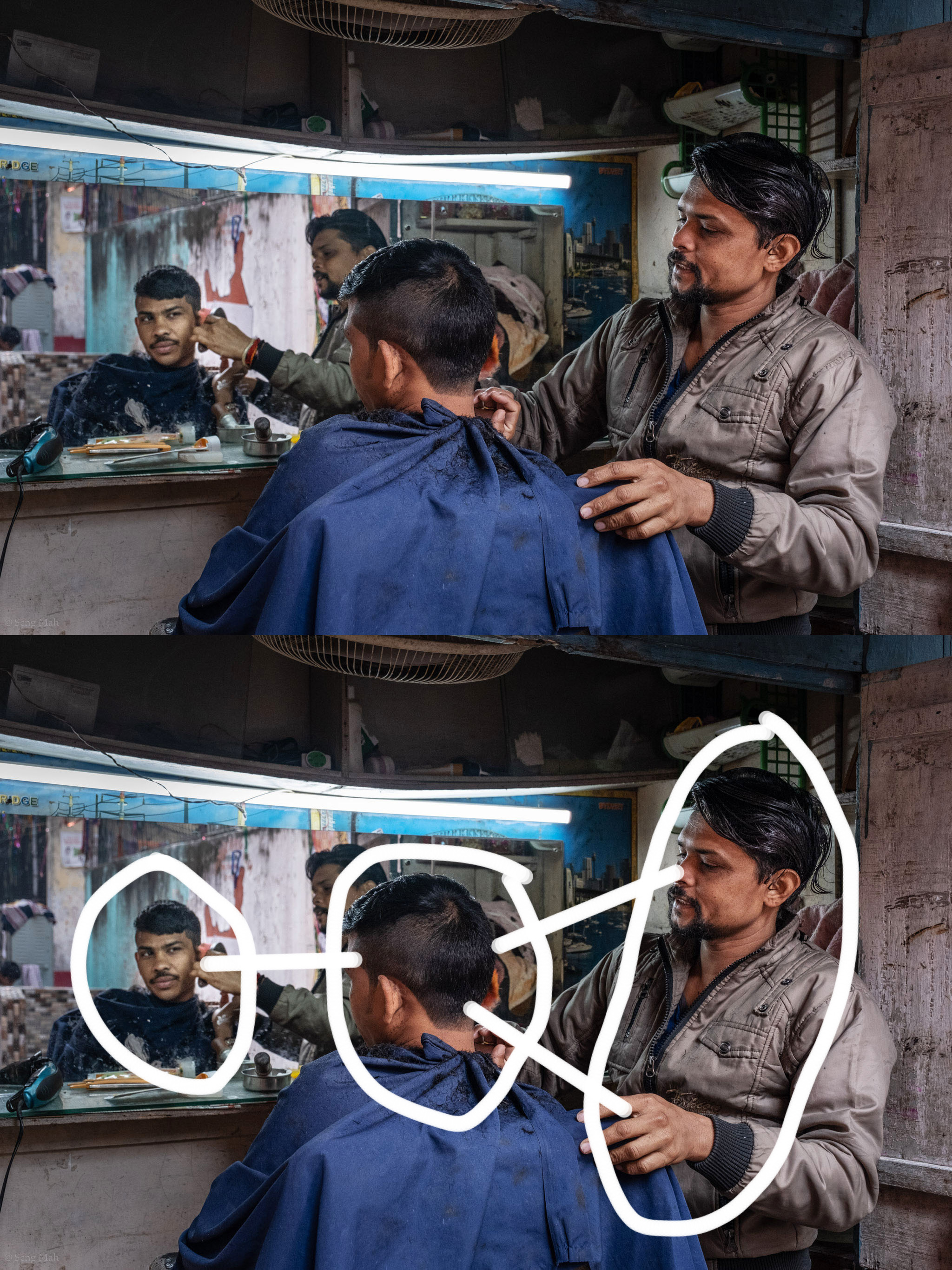 Street Barber in Kolkata