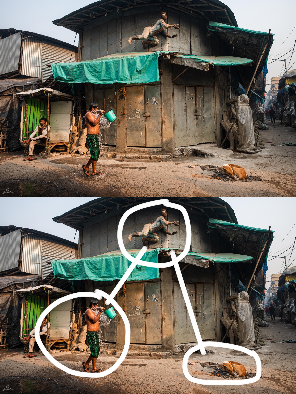 Kolkata Street Scene in Lebutalla