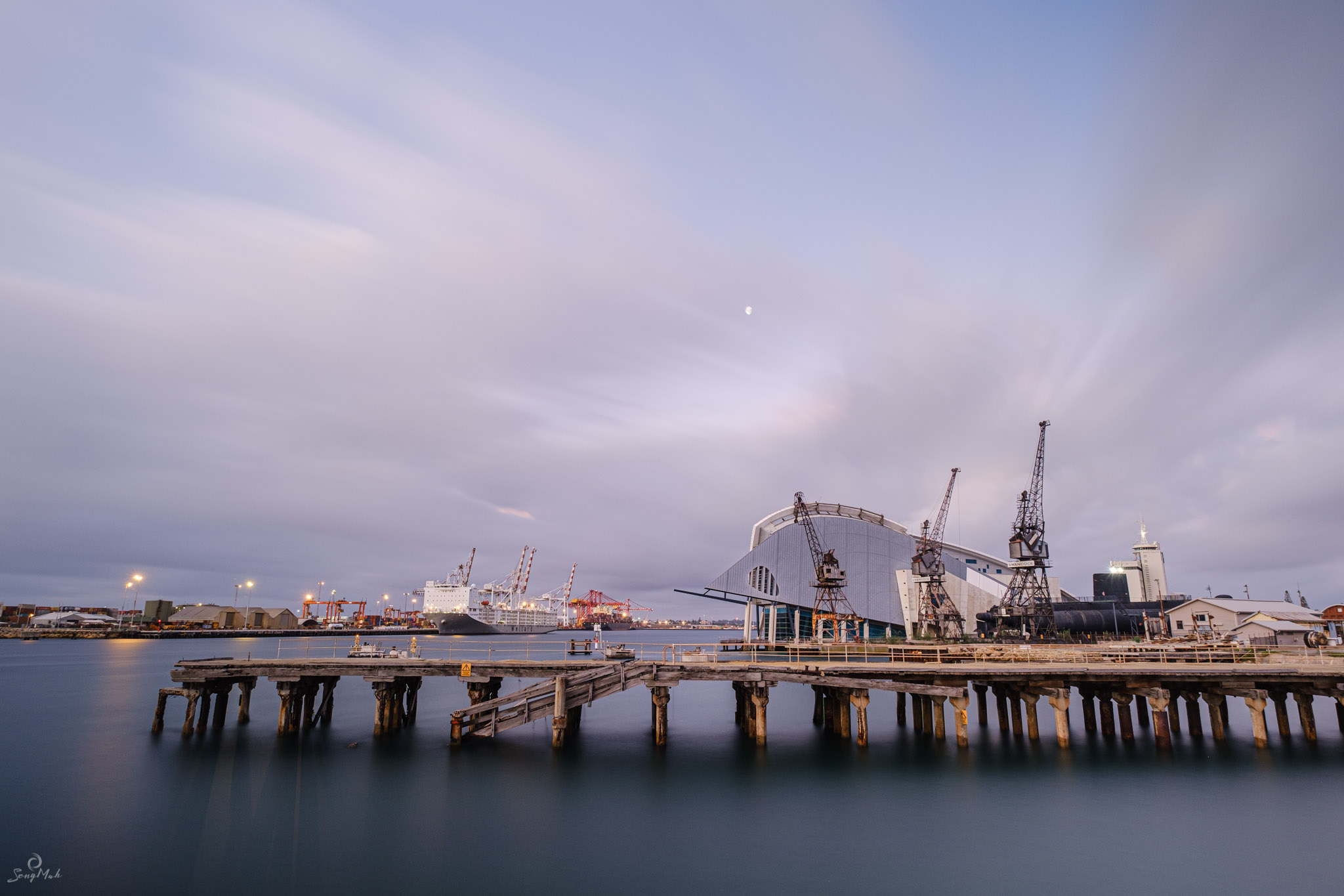 Fremantle Harbour long exposure