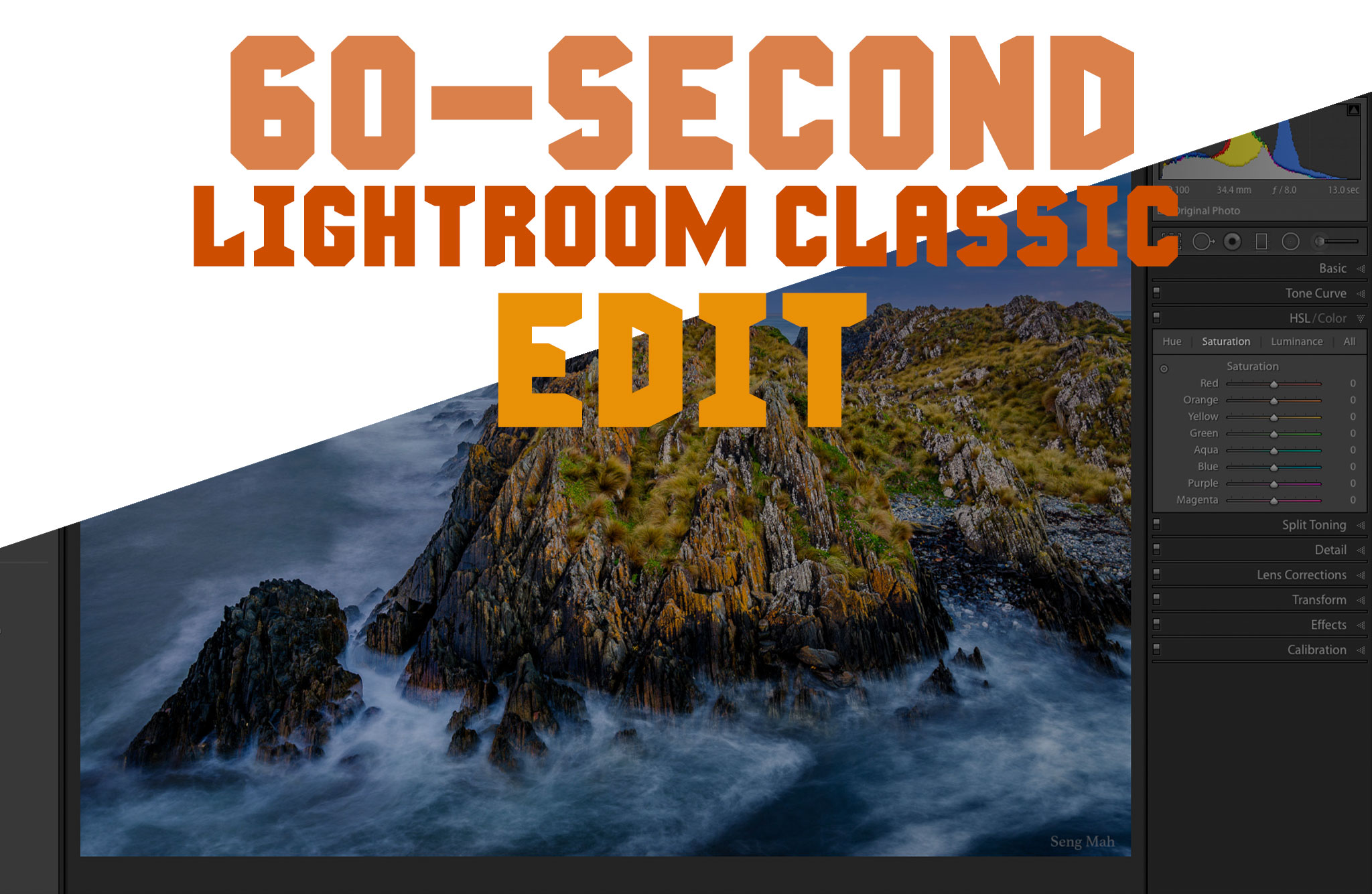 60 second lightroom edit