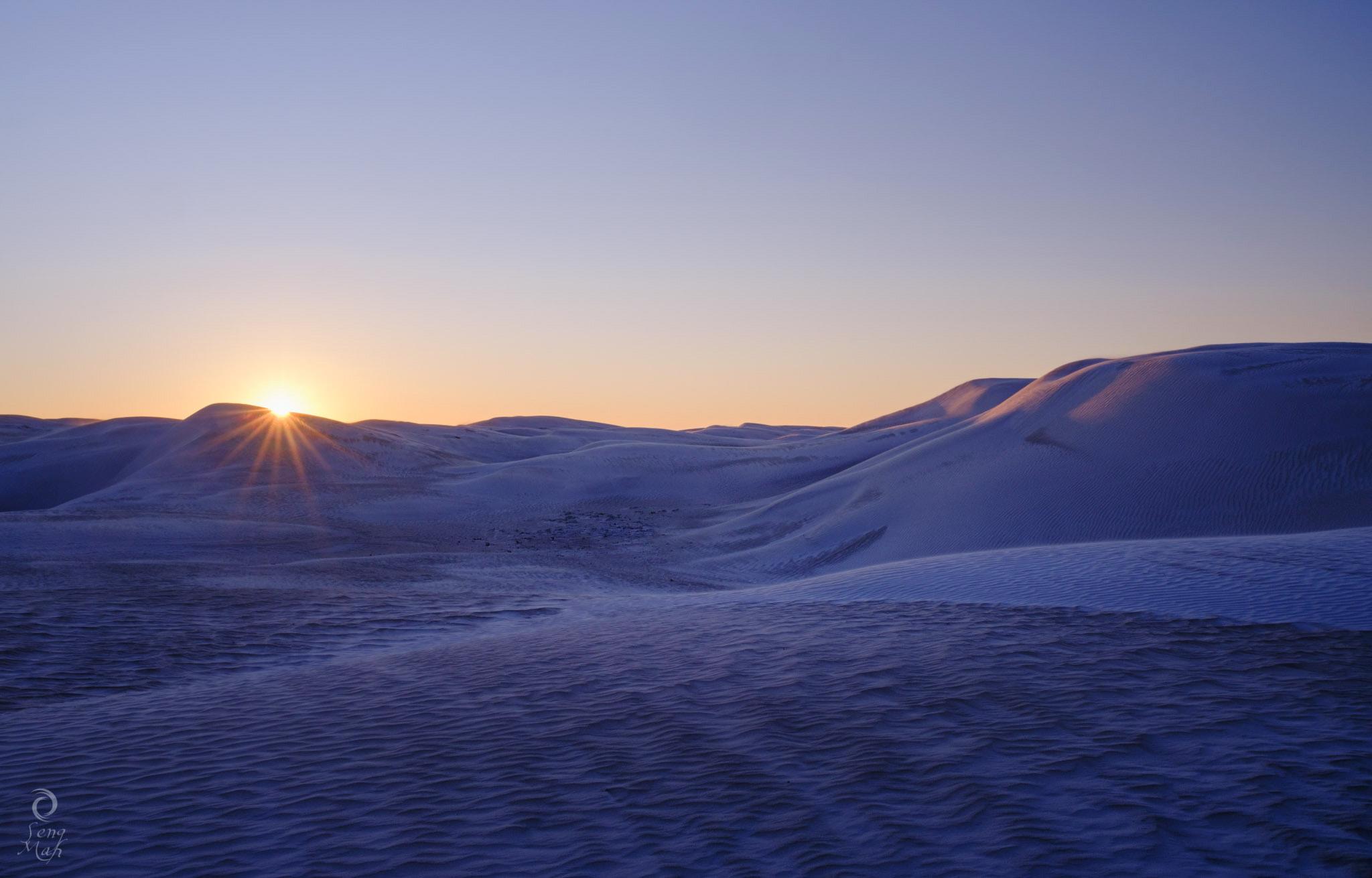 Ice cream dunes sunrise