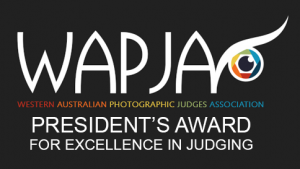 WA Photographic Judges Association - President's Award for Excellence in Judging