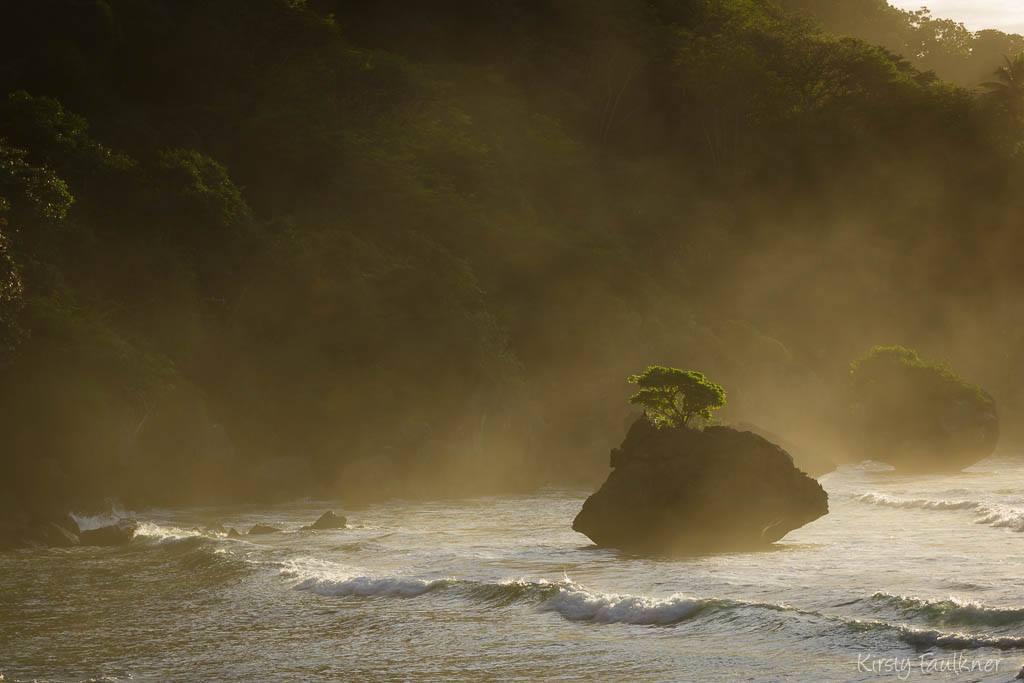 Sunset rock, Christmas Island