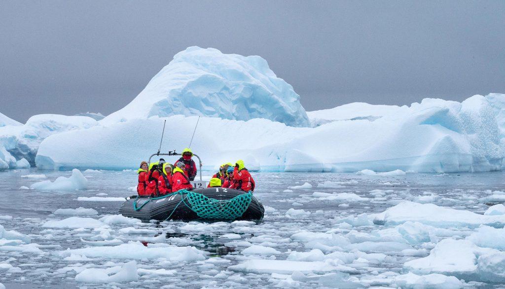 Travel amidst the icebergs